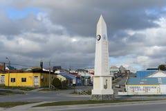 Porvenir é uma vila no Chile na ilha de Tierra del Fuego O centro administrativo da municipalidade e da província fotos de stock