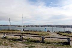 Porvenir ist ein Dorf in Chile auf der Insel von Tierra del Fuego lizenzfreie stockfotografie