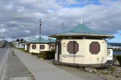 Porvenir jest wioską w Chile na wyspie Tierra Del Fuego obrazy stock