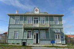 Porvenir jest wioską w Chile na wyspie Tierra Del Fuego obrazy royalty free