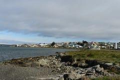 Porvenir jest wioską w Chile na wyspie Tierra Del Fuego zdjęcie stock