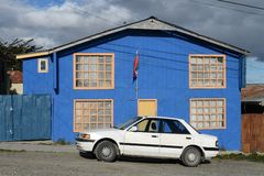 Porvenir is a village in Chile on the island of Tierra del Fuego Royalty Free Stock Photo