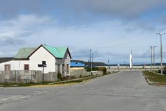 Porvenir is a village in Chile on the island of Tierra del Fuego Stock Photos