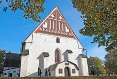 Porvoo Φινλανδία Ο καθεδρικός ναός πόλεων στοκ εικόνες