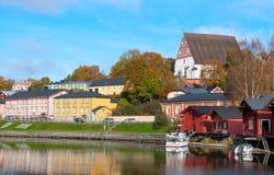 Porvoo Финляндия Река Porvoonjokl Стоковое Фото