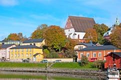 Porvoo Финляндия старый городок Стоковые Изображения RF