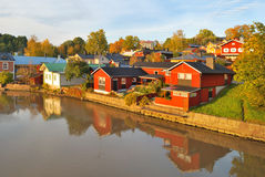 Porvoo in autumn, Finland Stock Images