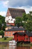 Porvoo (BorgÃÂ¥)。 老城镇 免版税库存照片