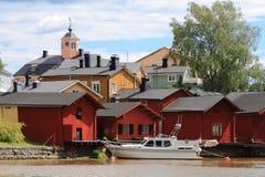 Porvoo (Borgå). A cidade velha Fotografia de Stock