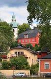 Porvoo (Borgå). A cidade velha Fotos de Stock