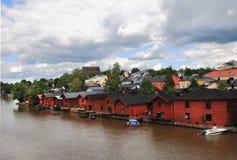 Porvoo (Borgå). A cidade velha Imagem de Stock