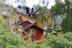 Porvoo (Borgå). The Old Town. Porvoo (Borgå) - is a city and a municipality situated on the southern coast of Finland approximately 50 km east of Helsinki Royalty Free Stock Photo
