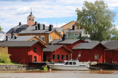 Porvoo (Borgå). The Old Town Stock Photography