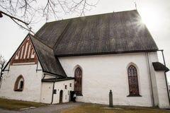 Porvoo - cathédrale Photos stock