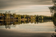 Porvoo Coastline. On the river Stock Images