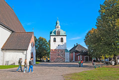 Porvoo. Finland. The City Cathedral Territory Stock Image