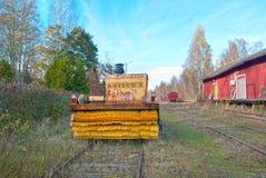 Porvoo finland gammal järnväg station Royaltyfria Bilder