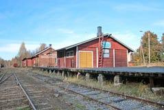 Porvoo finland gammal järnväg station Arkivbilder