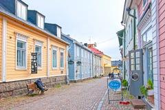 Porvoo finland gammal town Royaltyfria Bilder