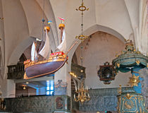 Porvoo. Finland. Interior of Cathedral Royalty Free Stock Photography
