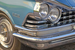 Porvoo, Finland - July 25, 2015: Buick Electra, 1959, headlight Royalty Free Stock Photos
