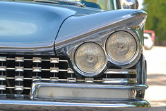 Porvoo, Finland - July 25, 2015: Buick Electra, 1959, headlight Royalty Free Stock Images