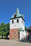 Porvoo, Finland. Medieval bell-tower Royalty Free Stock Photos