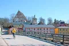 Porvoo. Finland. Old Bridge Stock Images