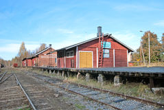 Porvoo. Finland. The Old Railway Station Stock Images