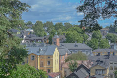 Porvoo, Finland: old town view Stock Images