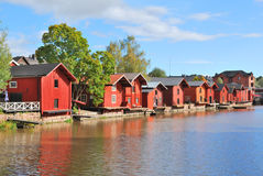 Porvoo, Finland. Old wooden  houses Stock Photo