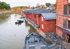 Porvoo. Finland. The Porvoonjokl River Bank Royalty Free Stock Images