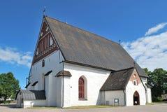 Porvoo, Finland. St. maagdelijke Mary Cathedral stock foto's