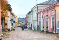 Porvoo Finlandia starego miasta Zdjęcie Royalty Free