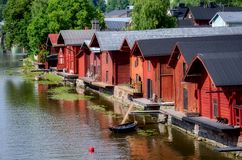 Porvoo, Finnland. Stockbild