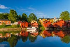 Porvoo flodlandskap Fotografering för Bildbyråer