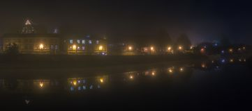 Porvoo at Night royalty free stock images
