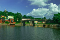Porvoo old town in Finland. Porvoo is very old town which is located about 1 hour from Helsinki. It is popular tourism visiting place and it is famous in old Royalty Free Stock Photos