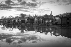 Porvoo Old Town. By the river. Old aitat Royalty Free Stock Photo