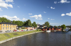 Porvoo riverside. Idyllic old town Porvoo in Finland royalty free stock image