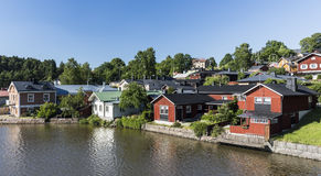Porvoo riverside. Idyllic old town Porvoo in Finland Royalty Free Stock Photography