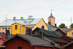 Porvoo rooftops. Stock Images