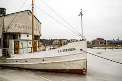 Porvoo ship Runenberg Royalty Free Stock Photography