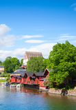 Porvoo. Small historical town in Finland Stock Images