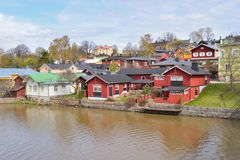 Porvoo in spring, Finland Royalty Free Stock Image