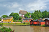 Porvoo before the storm Stock Image