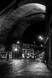 Pory nocnej miasta scena fotografia stock