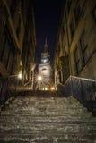 Pory nocnej miasta scena Newcastle, Tyne - Zdjęcia Stock