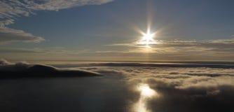 Pory nocnej słońce w Nordkapp Zdjęcie Stock