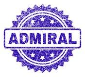 Porysowana ADMIRAL znaczek foka royalty ilustracja